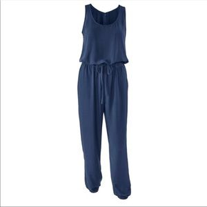 CAbi French Navy Jumpsuit Romper